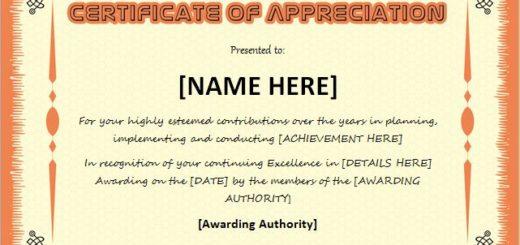 Certificates of Appreciation Templates Professional Certificate - recognition certificates for students