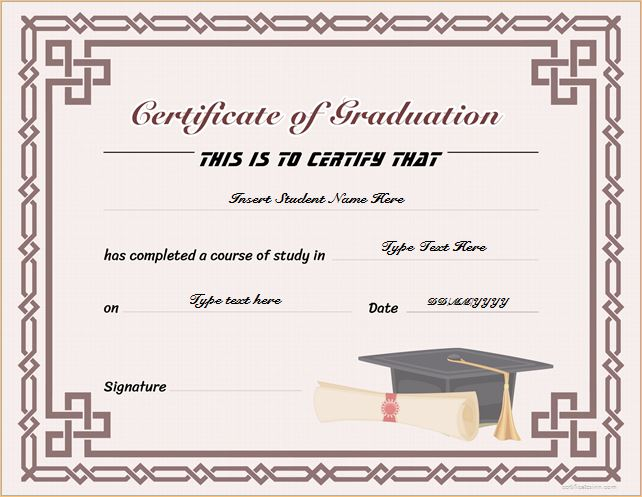 Graduation Certificate Templates for MS WORD Professional