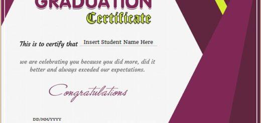 Preschool Graduation Certificate Professional Certificate Templates - graduation certificate