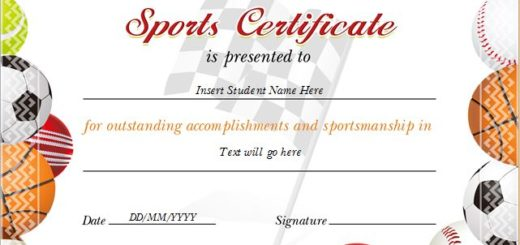 Sports Award Certificates Professional Certificate Templates