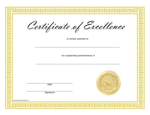blank school certificate templates - free printable editable certificates