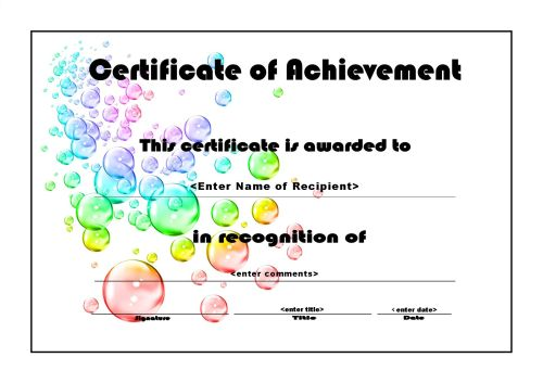Certificates of Achievements Certificate Templates - blank achievement certificates