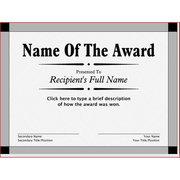 free award certificate templates - Onwebioinnovate - printable certificate templates