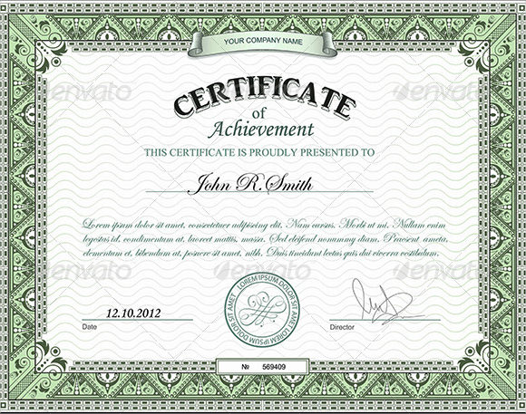 samples of certificate of achievement - zrom