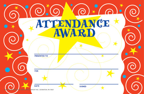 Certificate of Attendance Templates Certificate Templates - free printable perfect attendance certificate template