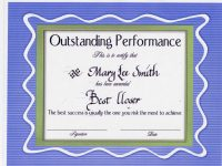 Performance Certificate Template | Performance Award Certificate Template Best Performance Award