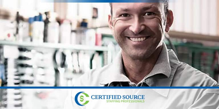 We Hire Industrial Mechanics At Certified Source Staffing Professionals