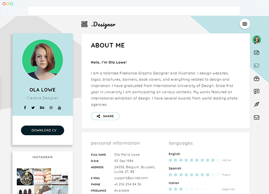 Certy Wordpress Resume, CV Theme - resume wordpress theme