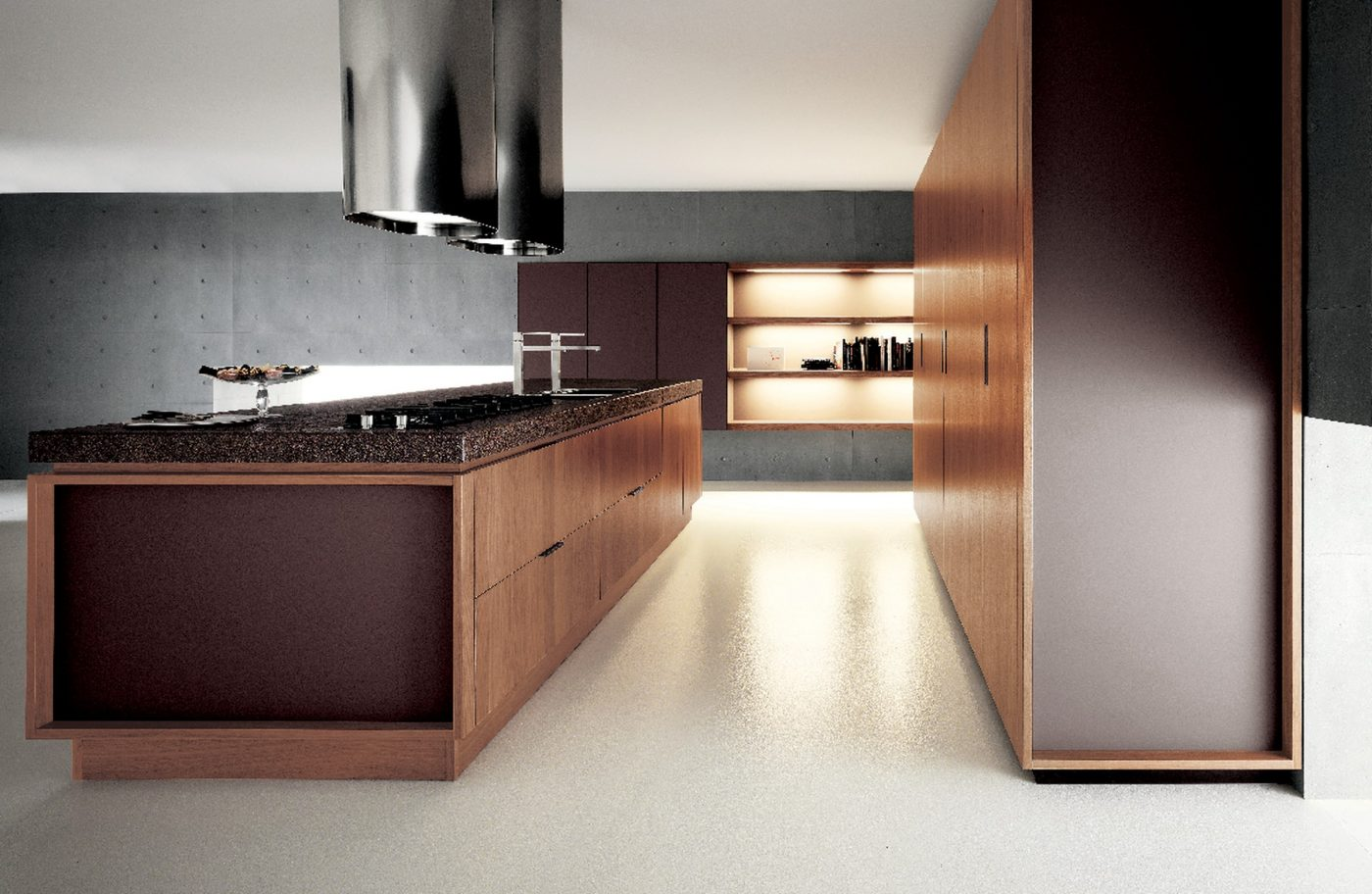 Cesar Yara Kitchen In Lacquer Walnut Cesar Nyc Kitchens Design Nyc
