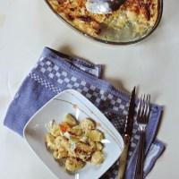 Gratin de gnocchis, champignons et gorgonzola