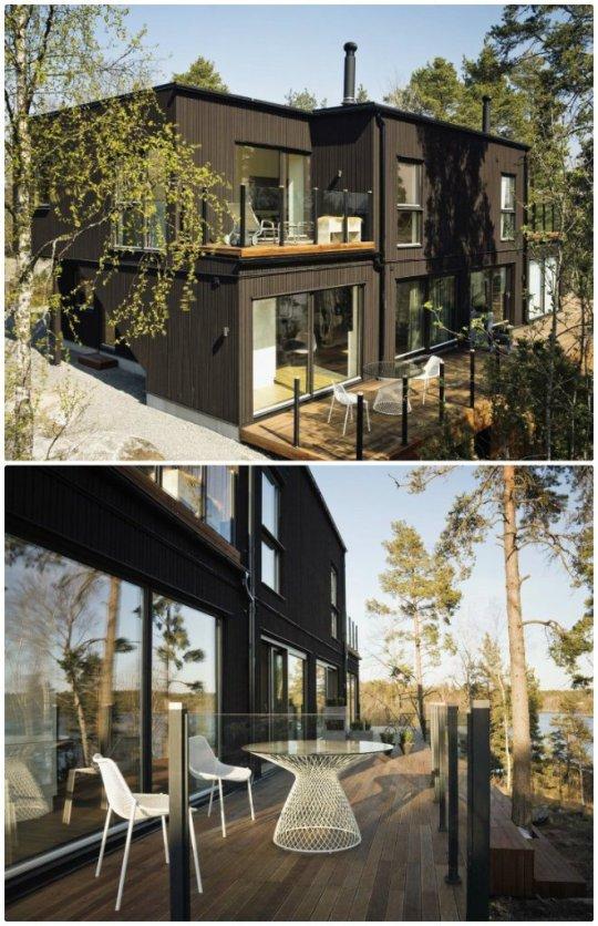 Maison en bois moderne et design for Exterieur maison bois
