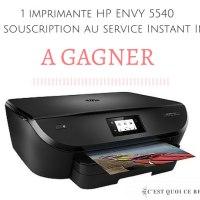 Une imprimante HP à gagner ! #NeverRunOut