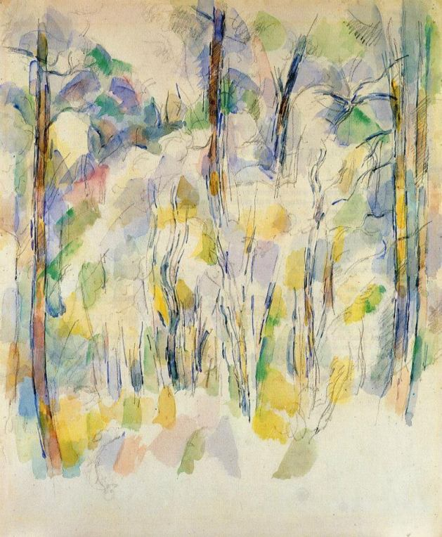 Paul-Cézanne-1839-1906-In-the-Woods-ca.-1900-Private-Collection