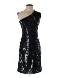 Club Monaco 100% Nylon Solid Black Cocktail Dress Size XS ...