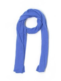 Garnet Hill 100% Cashmere Solid Blue Cashmere Scarf One ...
