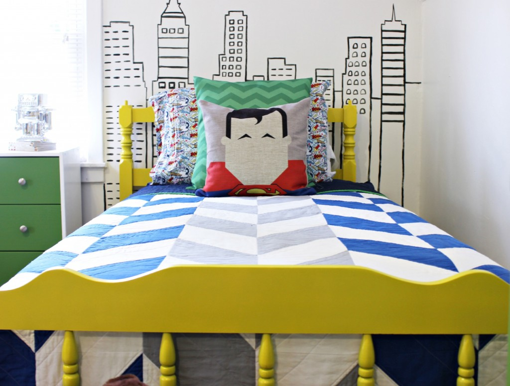 Superman Room Ideas Modern Superhero Boys Room