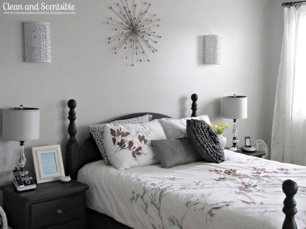 Bedroom Grey Walls Master Bedroom Makeover Clean And Scentsible