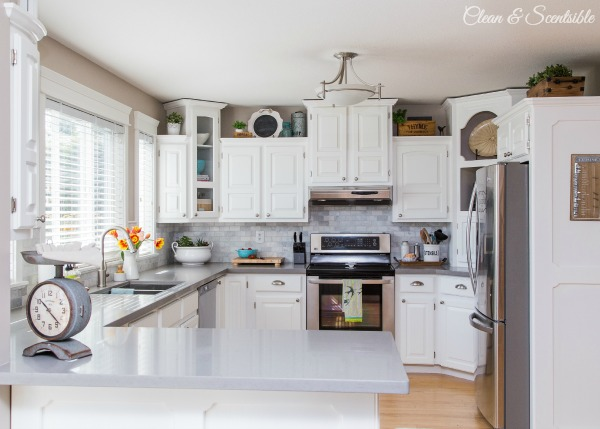 White Kitchen Reveal {Home Tour} - Clean And Scentsible