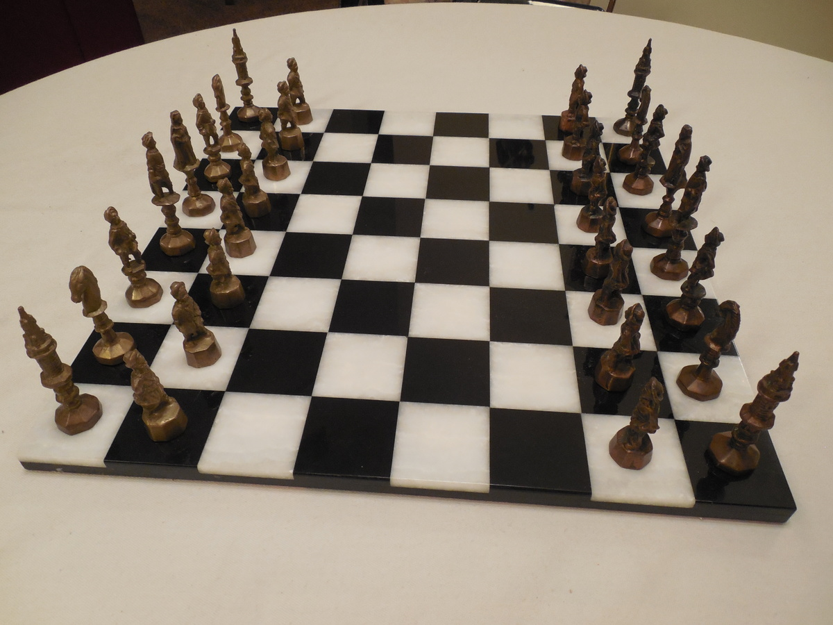 Collectors Chess Sets Bizarre Theme Vintage Chess Set What Are These