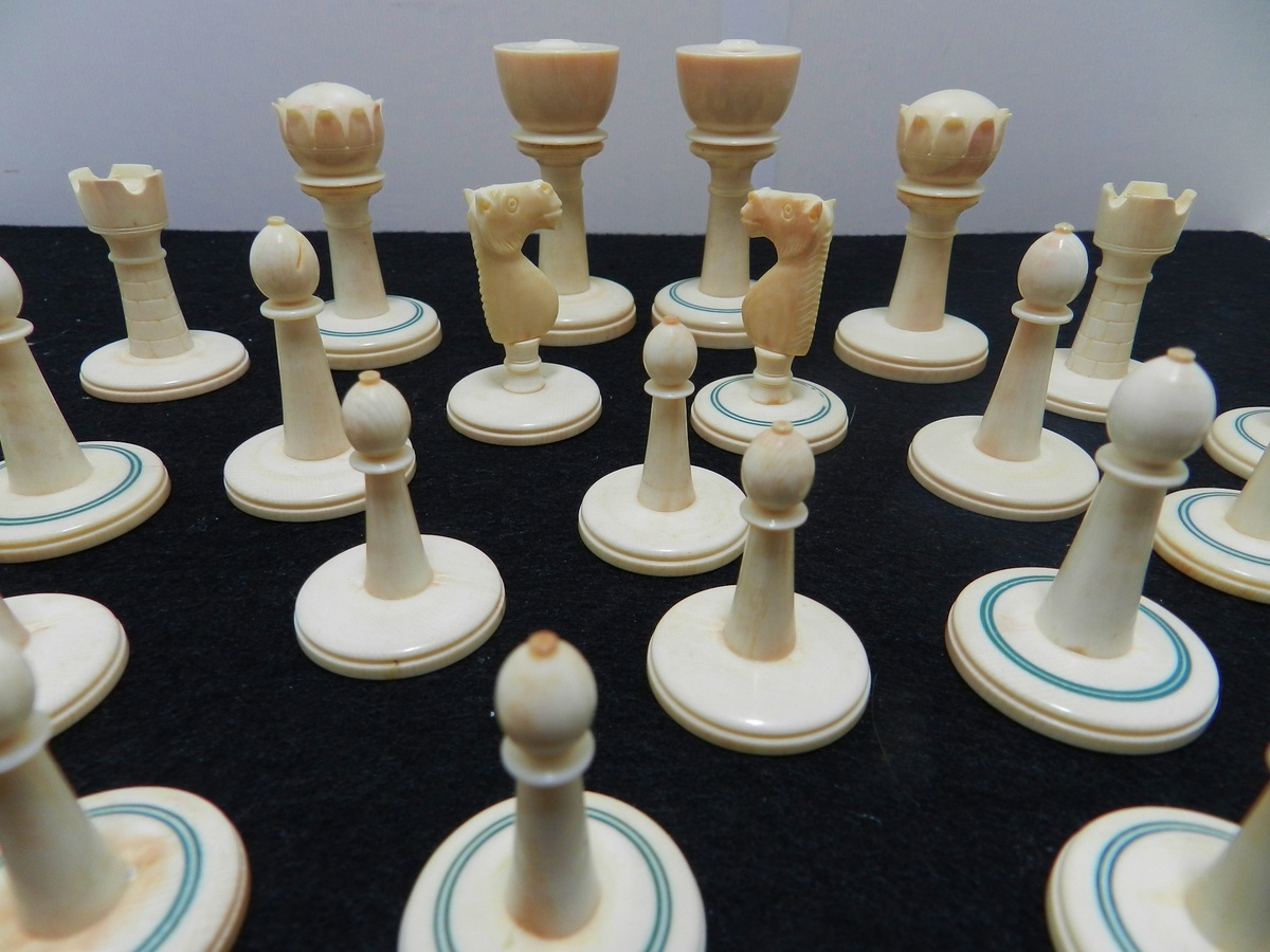 Collectors Chess Sets Antique Ivory Chess Set Origins Age Collectors Weekly