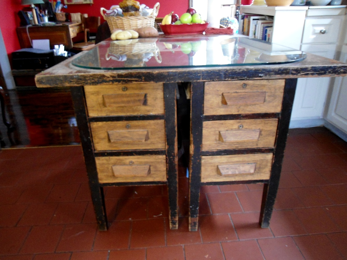 Antique Kitchen Islands Antique Kitchen Island Desk | Collectors Weekly