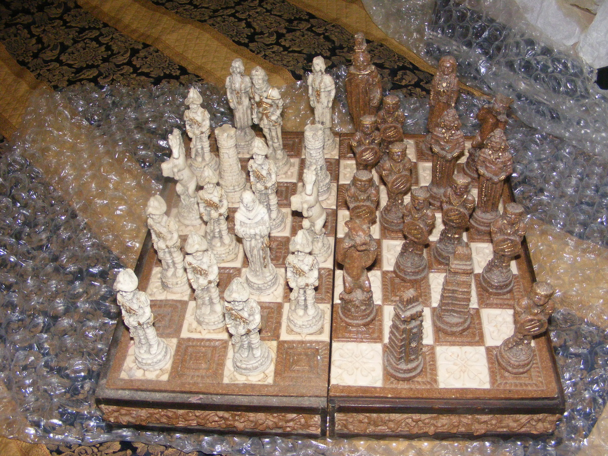 Collectors Chess Sets Older Style Soap Stone Chess Set Collectors Weekly