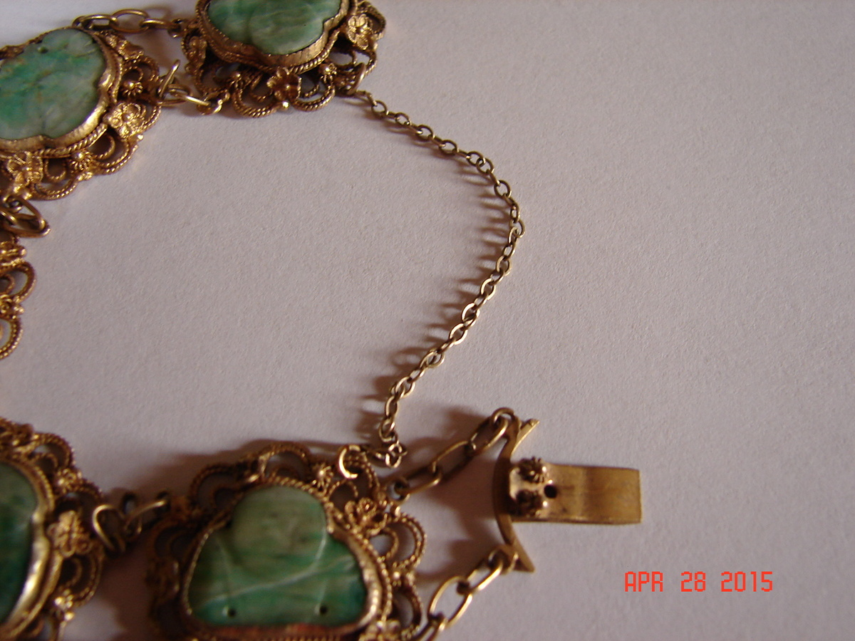 Beautiful Jade Buddha Gold Bracelet Question About Gold