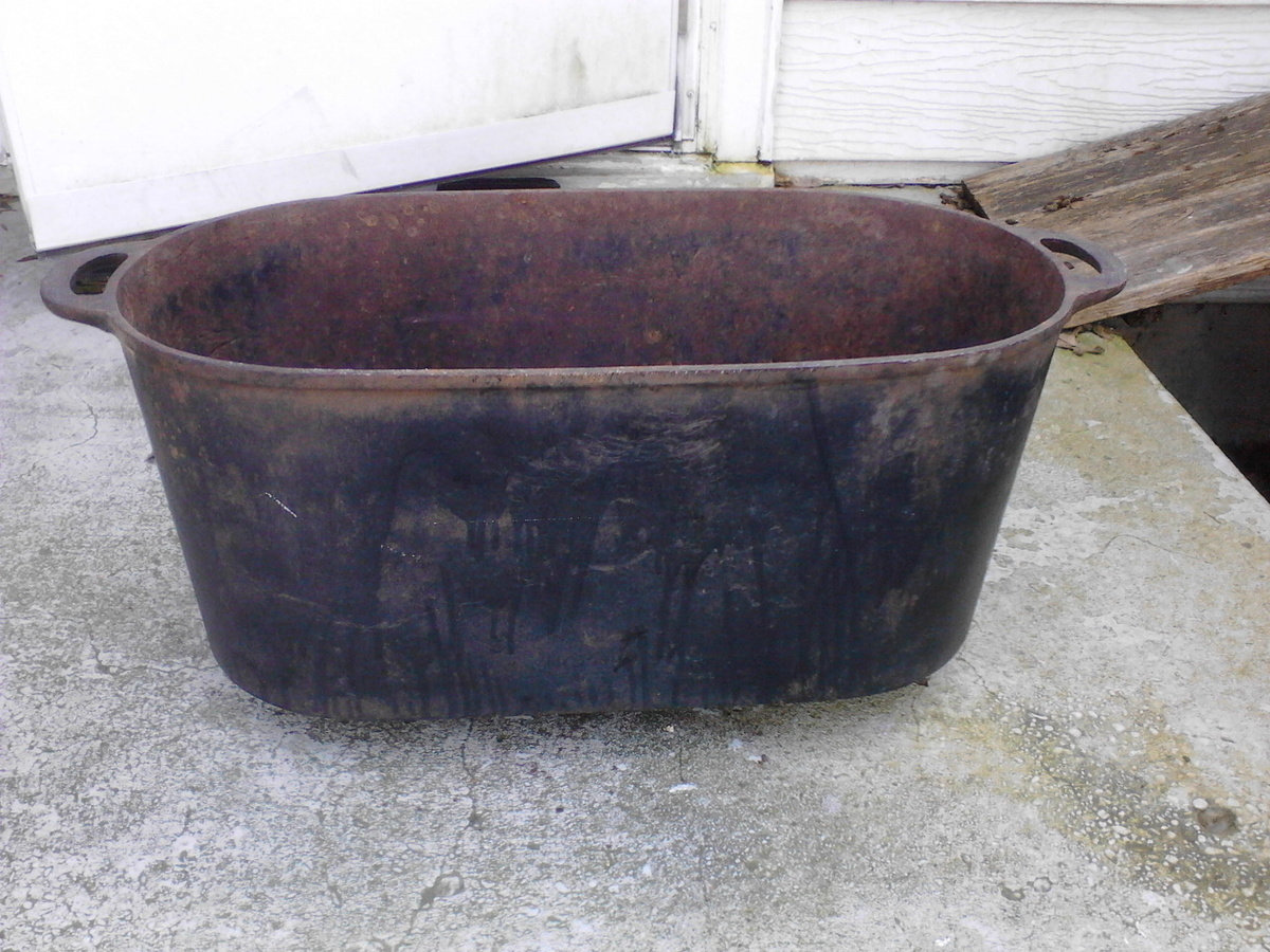 Cast Iron Pot Primitive Rendering Cast Iron Pot Large 18 23 Quot X 10 Quot X 10