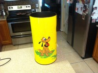 1950's Mickey Mouse, Minnie Mouse and Goofy trash can ...