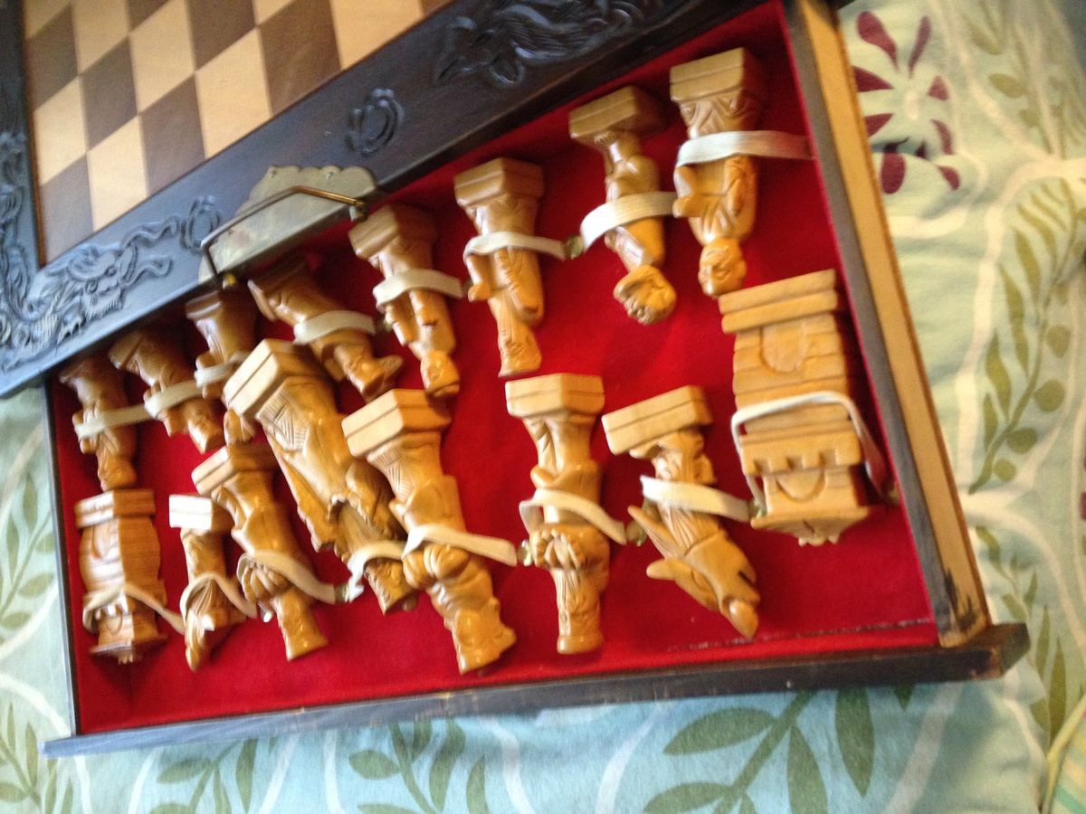 Collectors Chess Sets Antique Hand Carved Chess Set Collectors Weekly