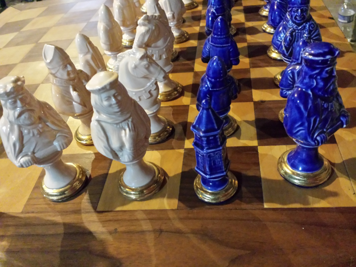 Collectors Chess Sets Porcelain Chess Set Collectors Weekly