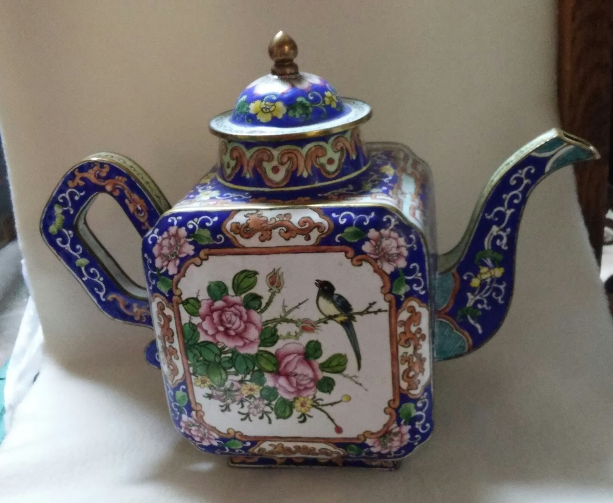 Beautiful Teapot Beautiful Enamel Teapot With Floral Design Collectors Weekly