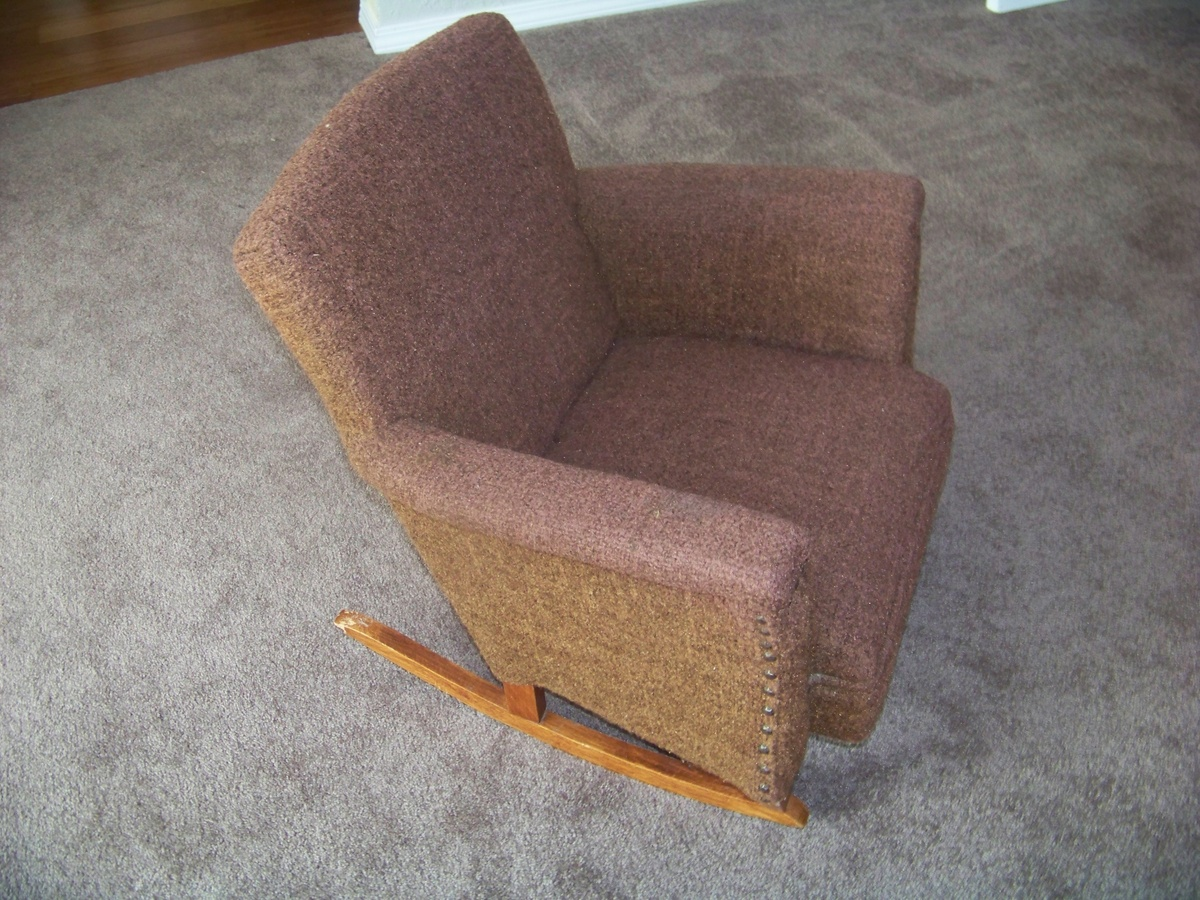 Upholstered Rocking Chair Child 39s Rocking Chair Upholstered Collectors Weekly