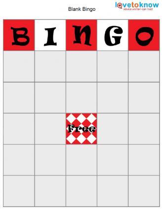 Bingo Game Board Template - blank bingo card template