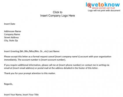 Sample Notice Cancellation Letter      Free Documents In PDF  Word Best Business Template