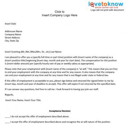 Job Offer Letter Template Australia | Sample Resume Job ...