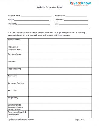 Performance Evaluation Employee Nursing Improvement Template www