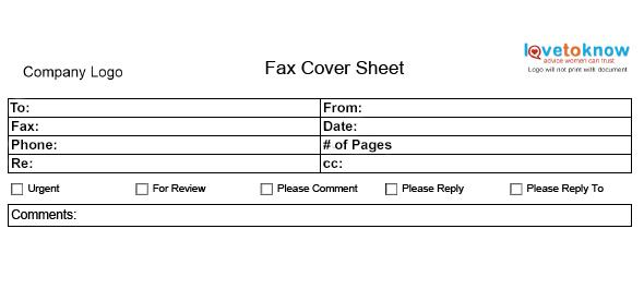 Fax Cover Sheet LoveToKnow - sample professional fax cover sheet template