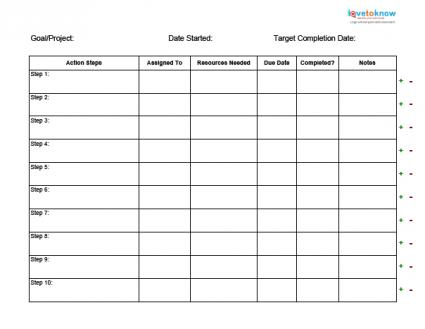 Business Action Plan Templates - action plan sample template