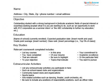 Student Resumes Resume Example High School Student Sample High - example resume student