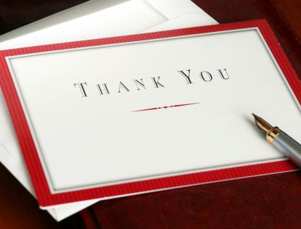 Employee Farewell Thank You Note - Thank You Note