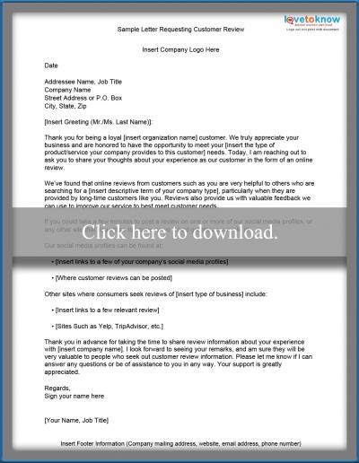 Free Sample Letters of Request LoveToKnow - example letter requesting something