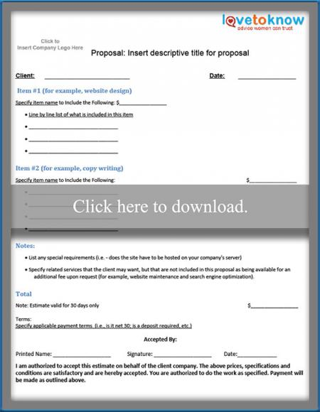 Free Business Proposal Samples - client proposal sample