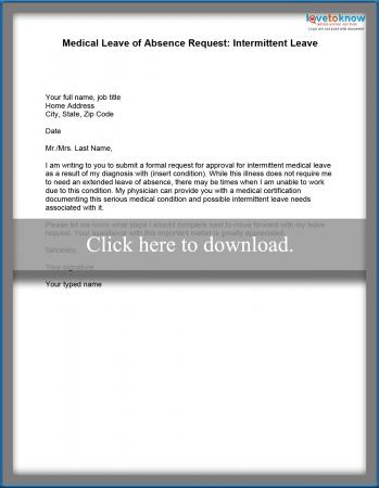 Sample of a Leave of Absence Letter - leave of absence letter