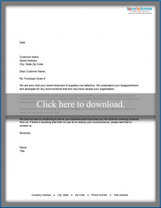 Sample Business Apology Letters