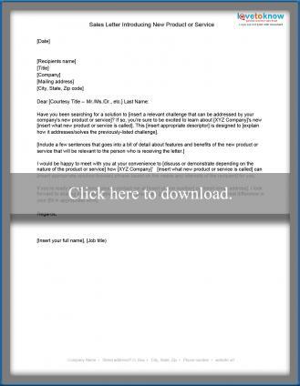 Free Sample Sales Letters LoveToKnow