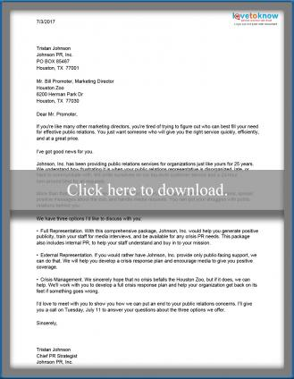 Example Proposal Letters - Sales Proposal Letter