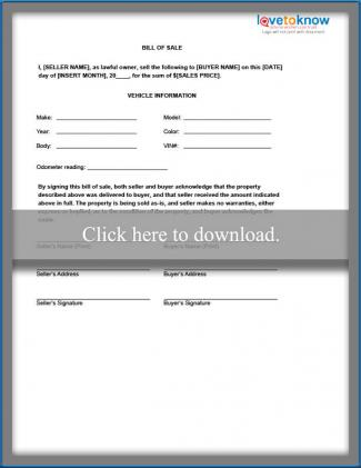 Bill of Sale Templates - Automotive Bill Of Sales
