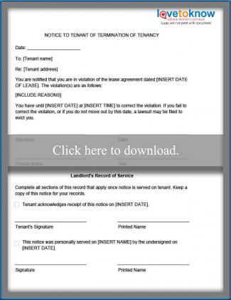 Eviction Notice Templates LoveToKnow