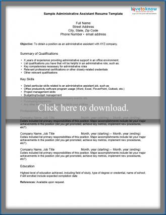 Sample Resumes for Administrative Assistants LoveToKnow